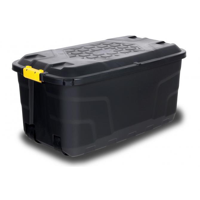 Staubox mit Rädern und Deckel 145 Liter