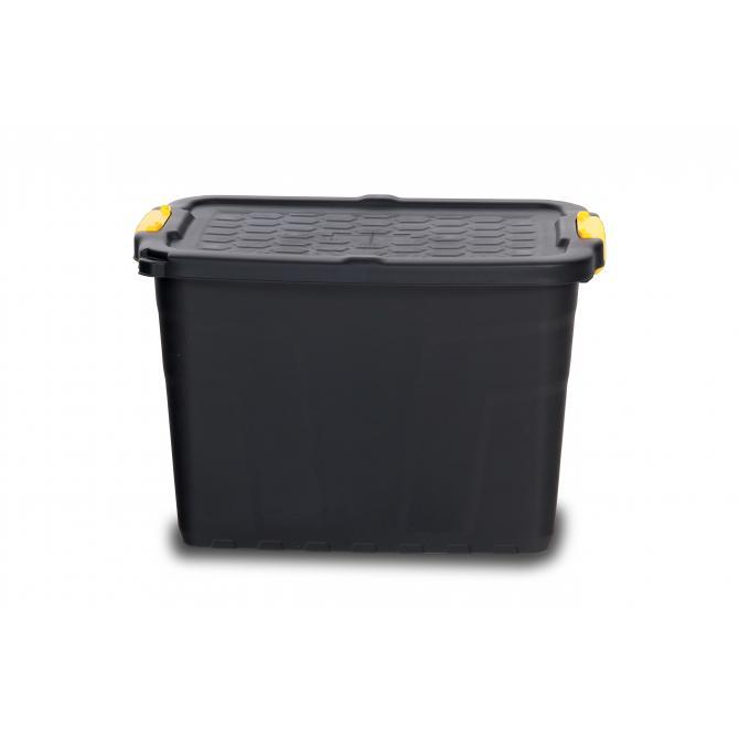 Staubox mit Rädern und Deckel 60 Liter
