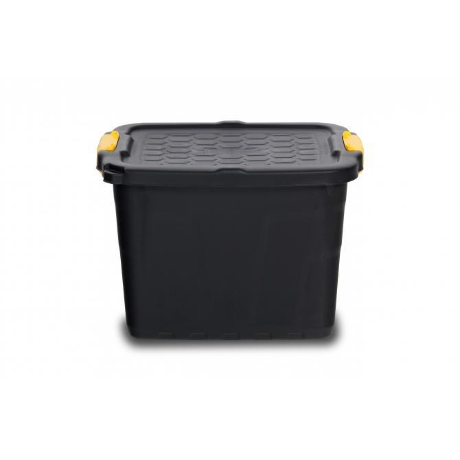 Staubox mit Rädern und Deckel 42 Liter