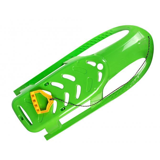 ONDIS24 Kinderschlitten Rennrodel Bob Bullet mit Metallkufen grün