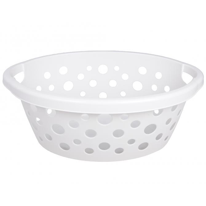 ONDIS24 Wäschekorb Kunststoff 25 L weiß