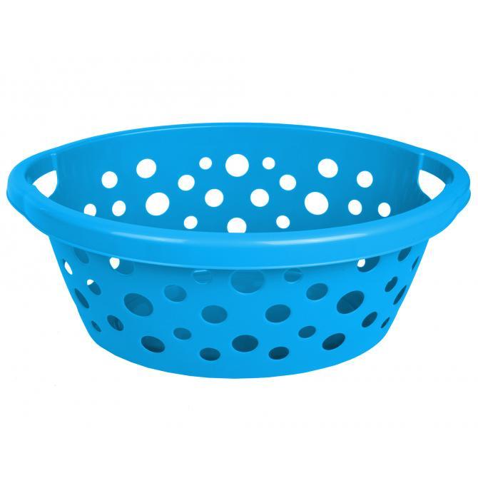 ONDIS24 Wäschekorb Kunststoff 25 L blau