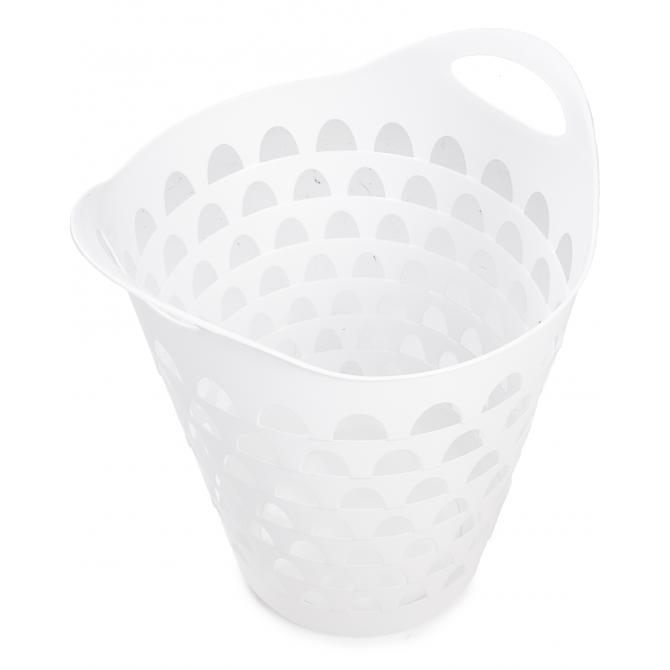 ONDIS24 Wäschekorb Wäschesammler Flexi weiß