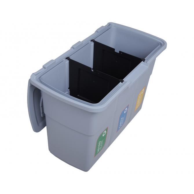 ONDIS24 Abfallsammler Mülleimer  Ecopat grau