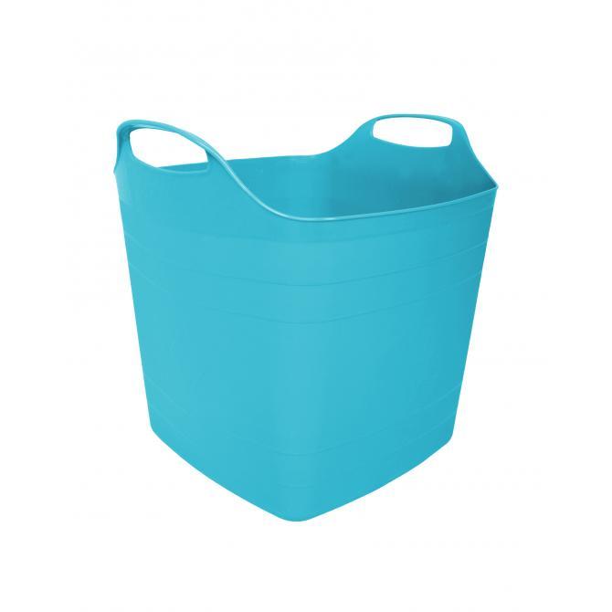 ONDIS24 Wäschekorb Wäschesammler Flexi Tub 15 L blau