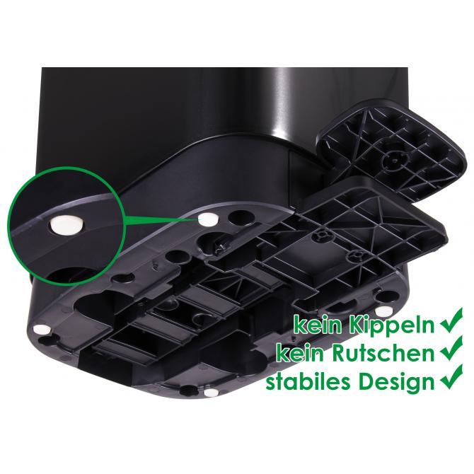 ONDIS24 Mülleimer Chic 45L schwarz