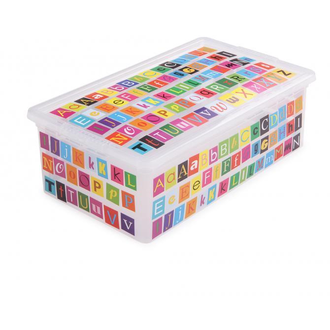 ONDIS24 Aufbewahrungsbox C Box XS ABC Design mit Deckel