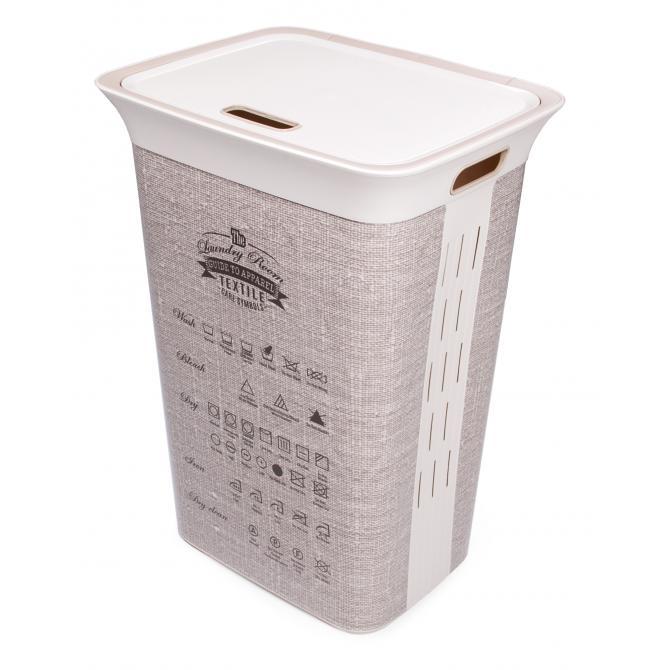 ONDIS24 Wäschekorb Wäschebox Moda Textile 60 L