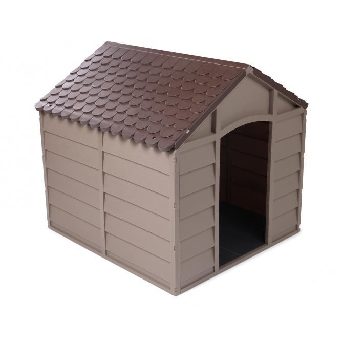 ONDIS24 Arkadien Hundehütte aus Kunststoff für mittelgroße Hunde