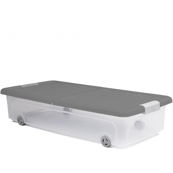ONDIS24 Unterbettbox Rollerbox 35 W Grau
