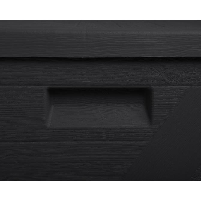 ONDIS24 Kissenbox Sitztruhe Wood anthrazit