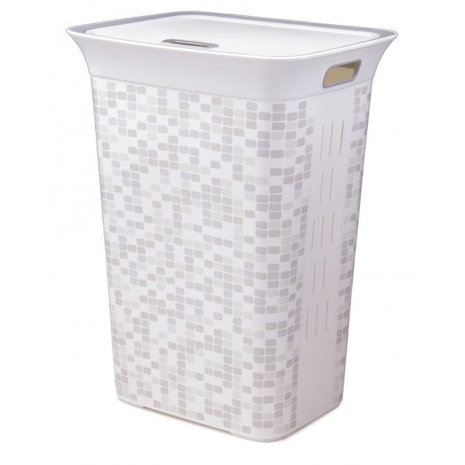 ONDIS24 Wäschekorb Wäschebox Moda Mosaik 60L