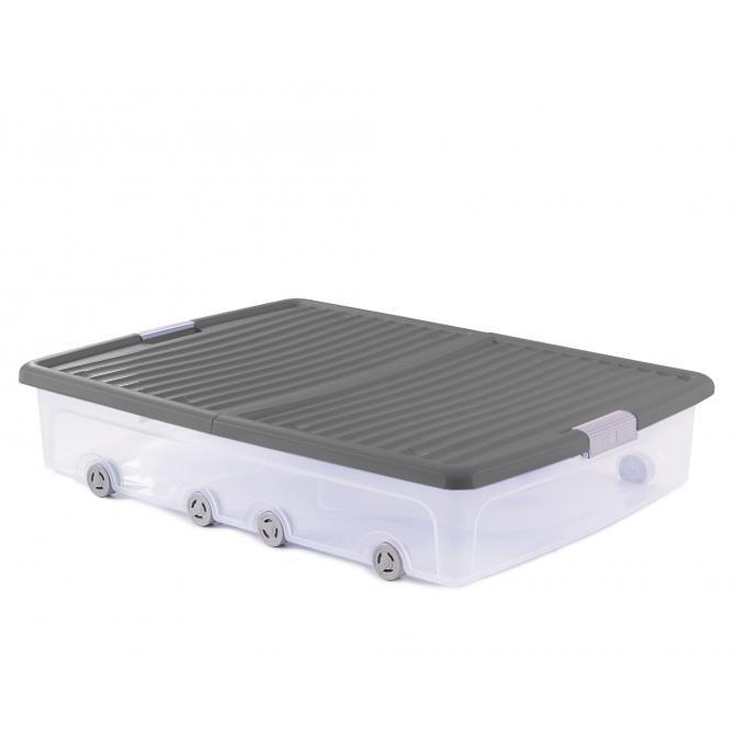 ONDIS24 Unterbettbox Rollerbox 55 W grau