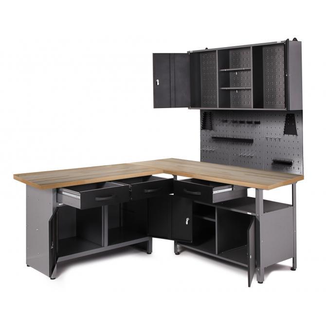 ONDIS24 Werkstatt Set Ecklösung Premium One anthrazit
