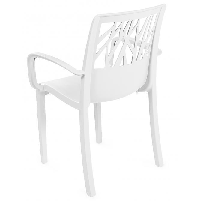 ONDIS24 Gartenstuhl Sessel Vegetal weiß