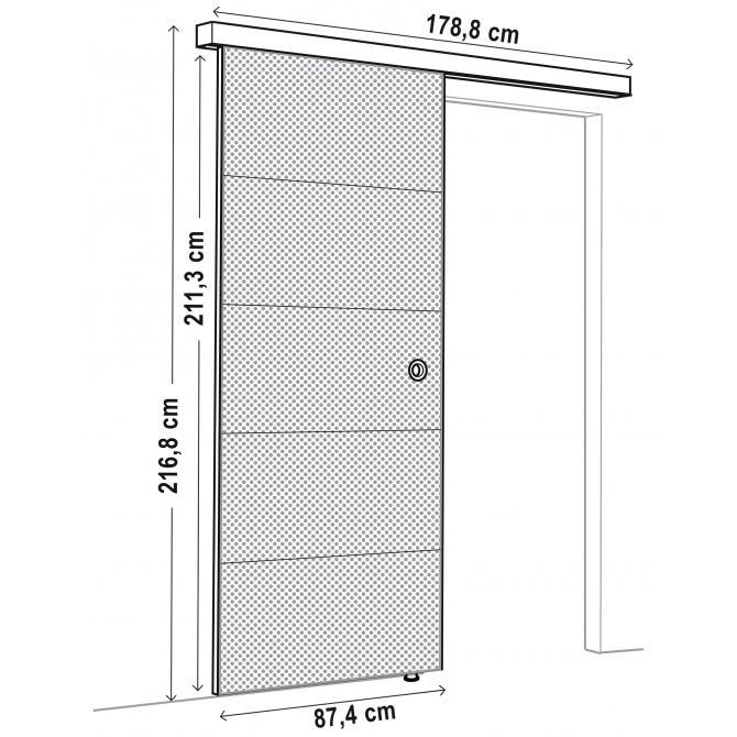 ONDIS24 Schiebetür mit Schiene SLIDE Beton