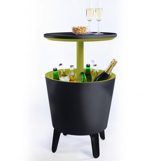ONDIS24 Keter Cool Bar Beistelltisch anthrazit-grün