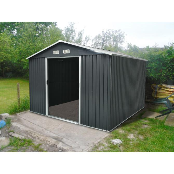 ONDIS24 Gerätehaus Anthrazit Metall Gartenhaus 303x236x190cm