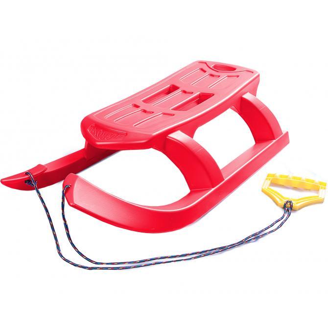ONDIS24 Kinderschlitten Rennrodel Bob Arrow mit Metallkufen rot