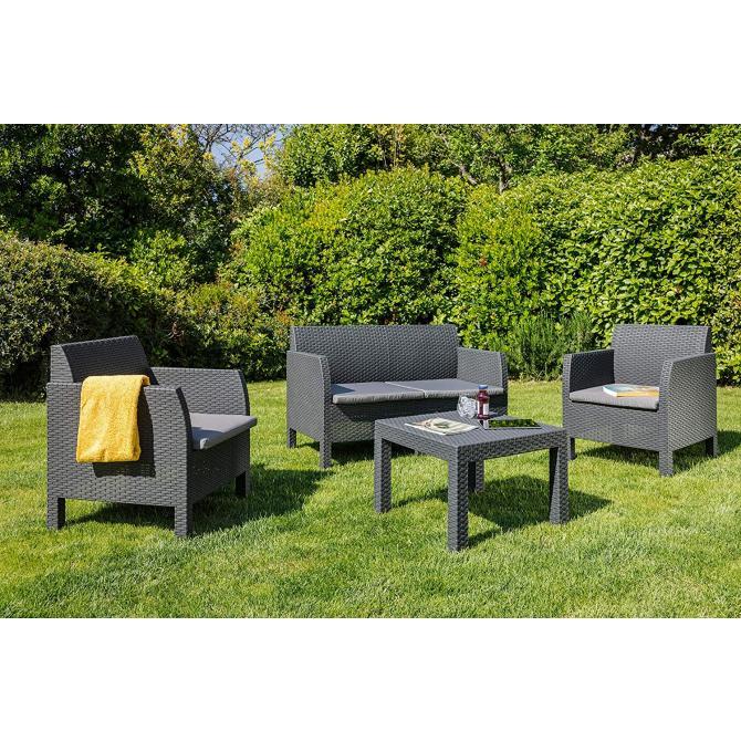 ONDIS24 Matilde Lounge Set 4-Sitzer mit Tisch
