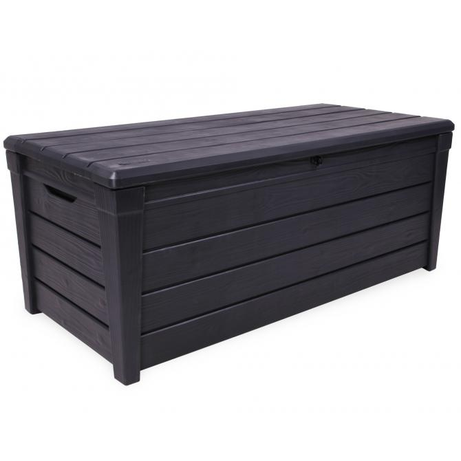 ondis24 kissenbox brightwood auflagenbox gartenbox anthrazit. Black Bedroom Furniture Sets. Home Design Ideas