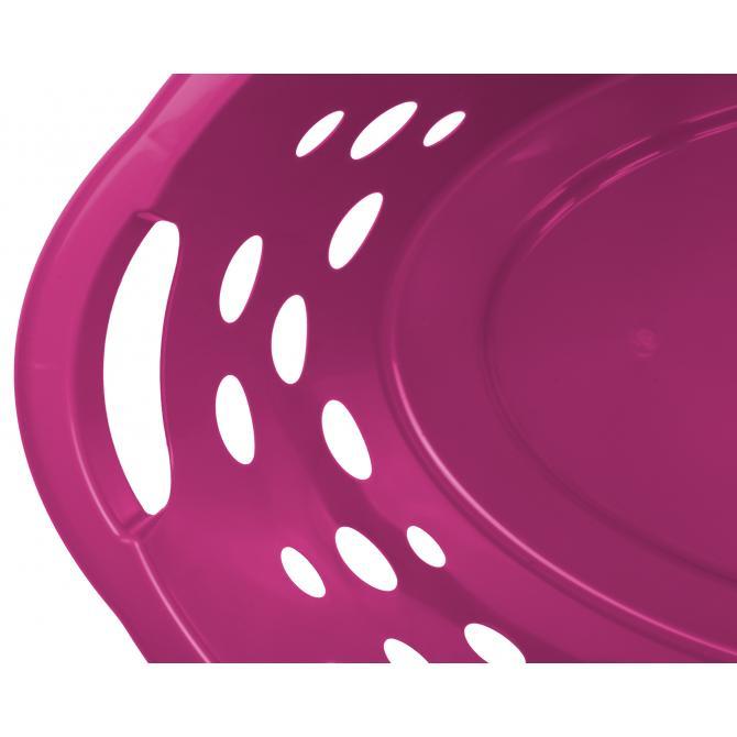 ONDIS24 Wäschekorb Kunststoff 25 L fuchsia
