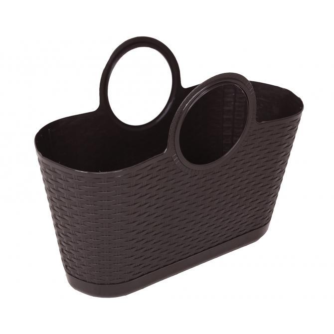 ONDIS24 Strandtasche Einkaufskorb Rattan braun