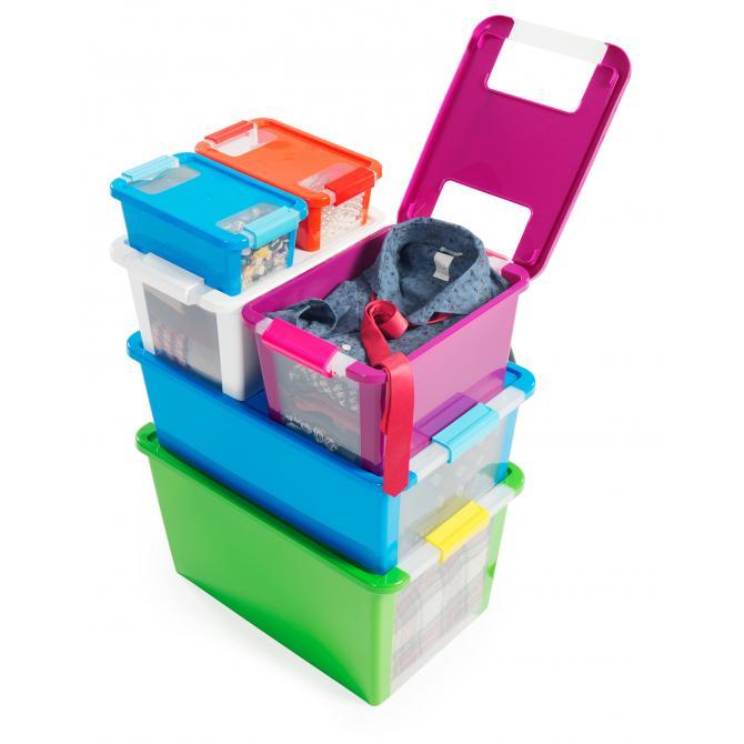 ONDIS24 Aufbewahrungsbox Klipp Box M flieder