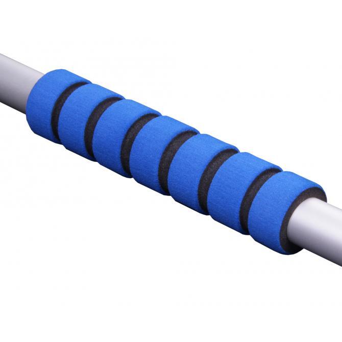 ONDIS24 Eiskratzer Besen Aluminium Schaft blau 75 cm