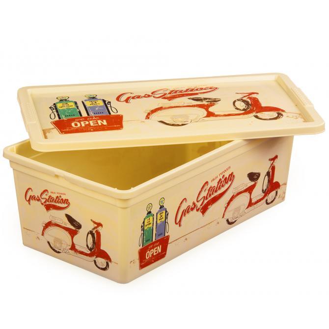 ONDIS24 Aufbewahrungsbox C Box XS Vintage Design Garage mit Deckel