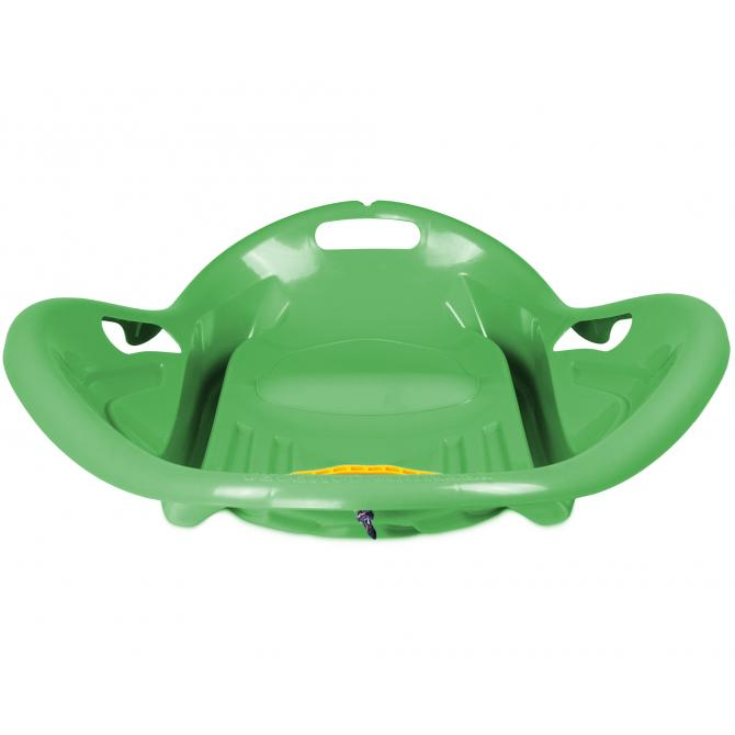 ONDIS24 Schlitten mit Seil und Griff Rodel Bob Kunststoff grün 80 cm