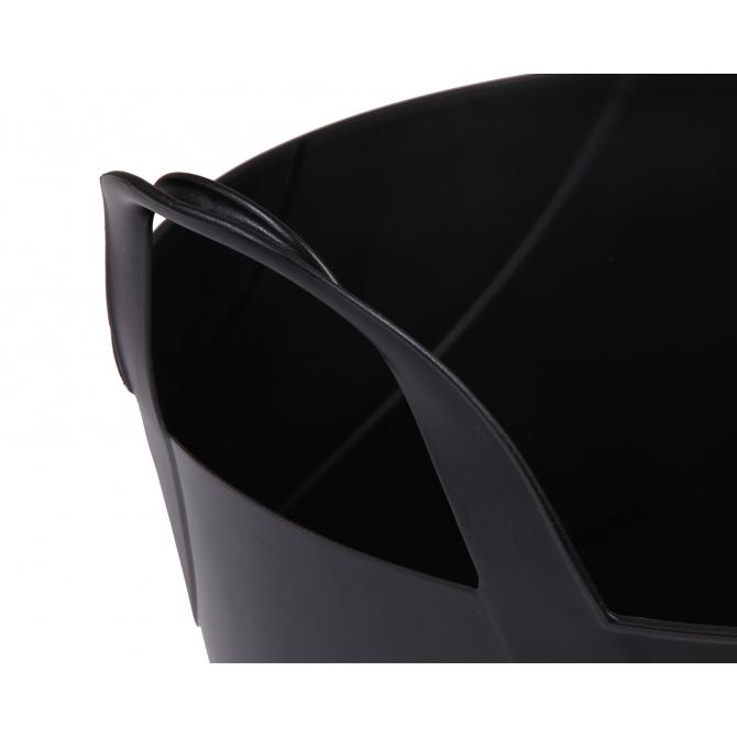 ONDIS24 Kleiderkorb Wäschekorb Flexi Tub Billy 45 L schwarz