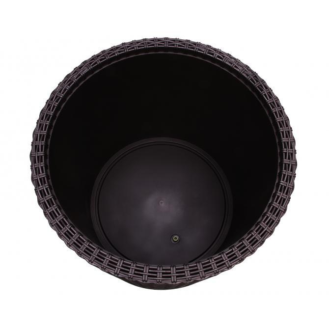 ONDIS24 Rattan Pflanzkübel Zylinder M