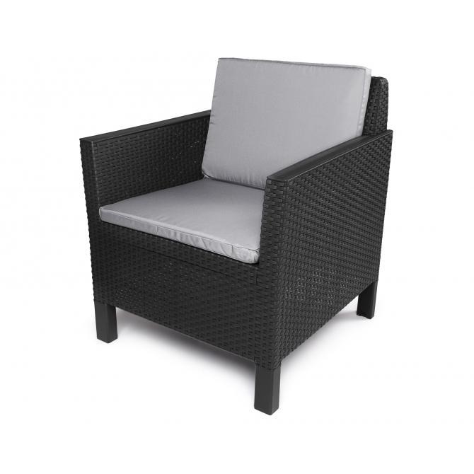 ONDIS24 Chicago Loungemöbel 5 Sitze mit Tisch Lyon