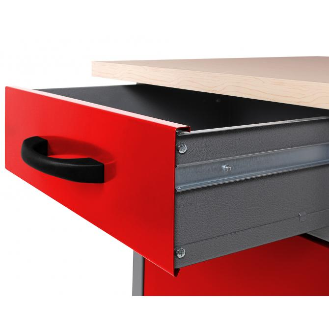 ONDIS24 Werkbank Bernd 60 cm rot