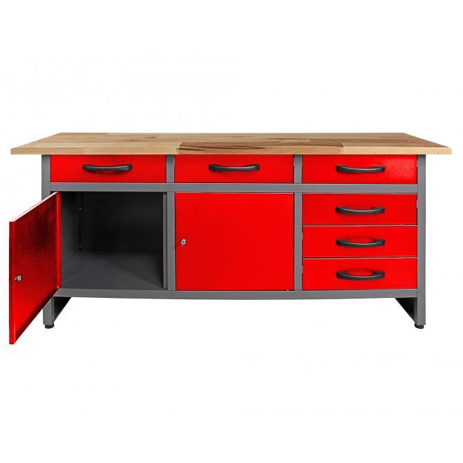 ONDIS24 Werkbank Karsten 170 cm rot