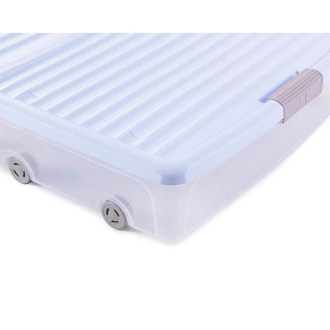 ONDIS24 Unterbettbox Rollerbox 55 W Hellblau