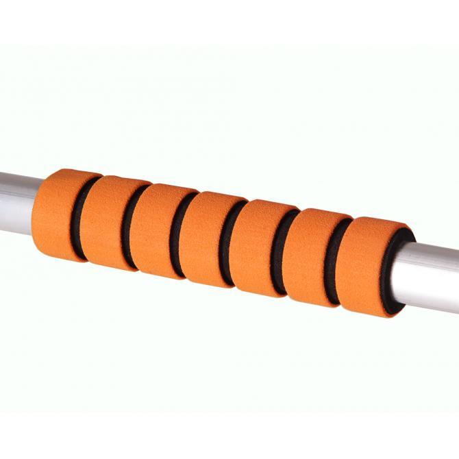 ONDIS24 Eiskratzer Besen Aluminium Schaft orange 75 cm
