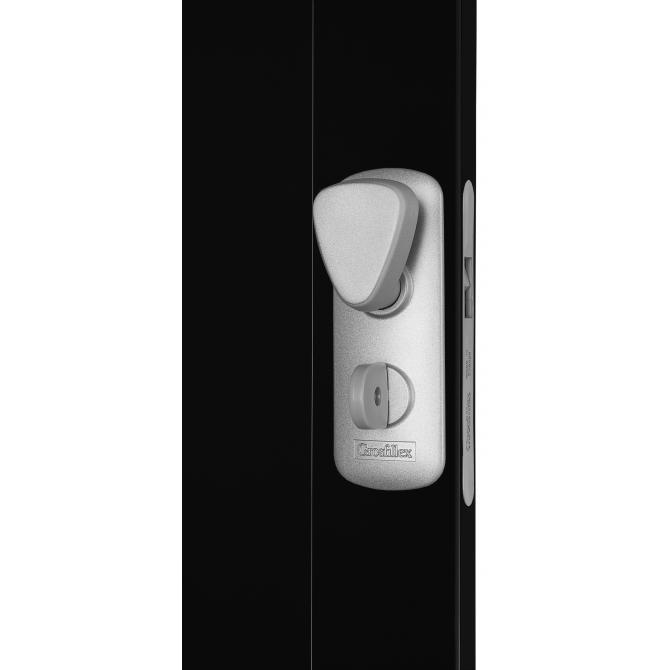 ONDIS24 Falttür Spacy Universal Schiebetür 84 cm schwarz