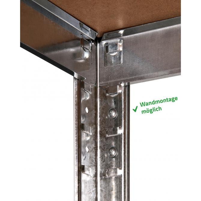 ONDIS24 2x Steckregal Metallregal Basti 70 x 30 verzinkt