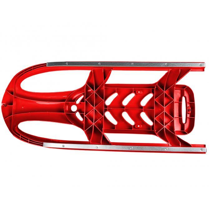 ONDIS24 Kinderschlitten Rennrodel Bob Bullet mit Metallkufen rot