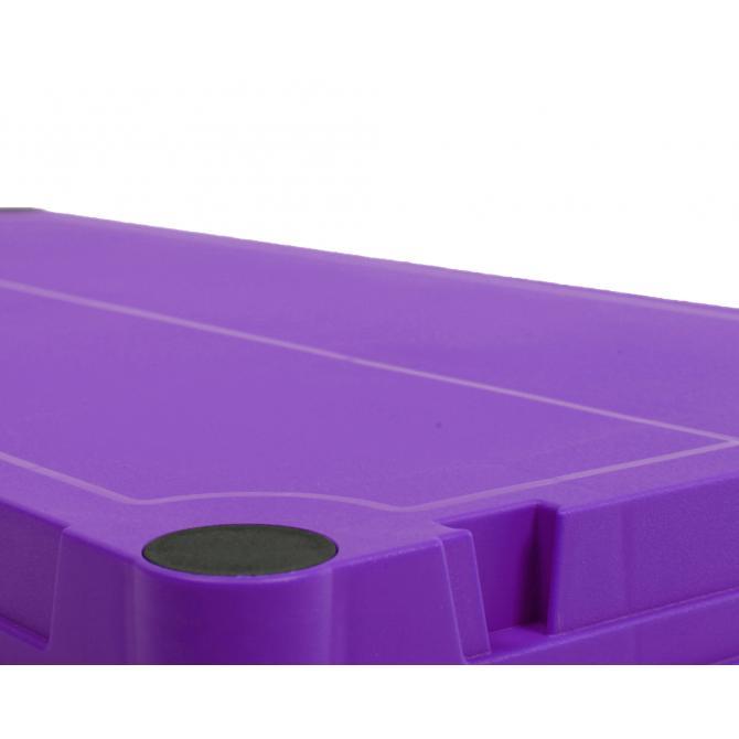 ONDIS24 Kunststoffregal Steckregal violett 60 x 30