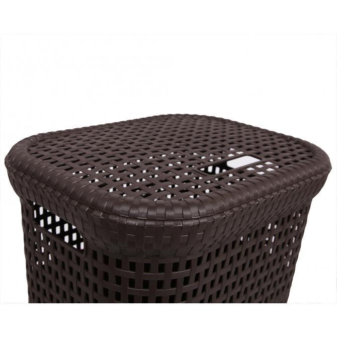 ONDIS24 Wäschekorb Rattan 60 L braun