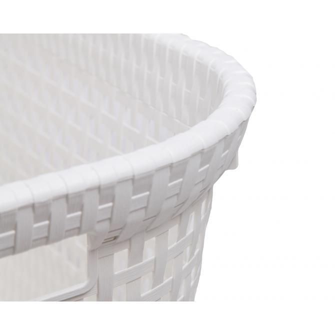 ONDIS24 Wäschekorb Rattan 45 L weiß