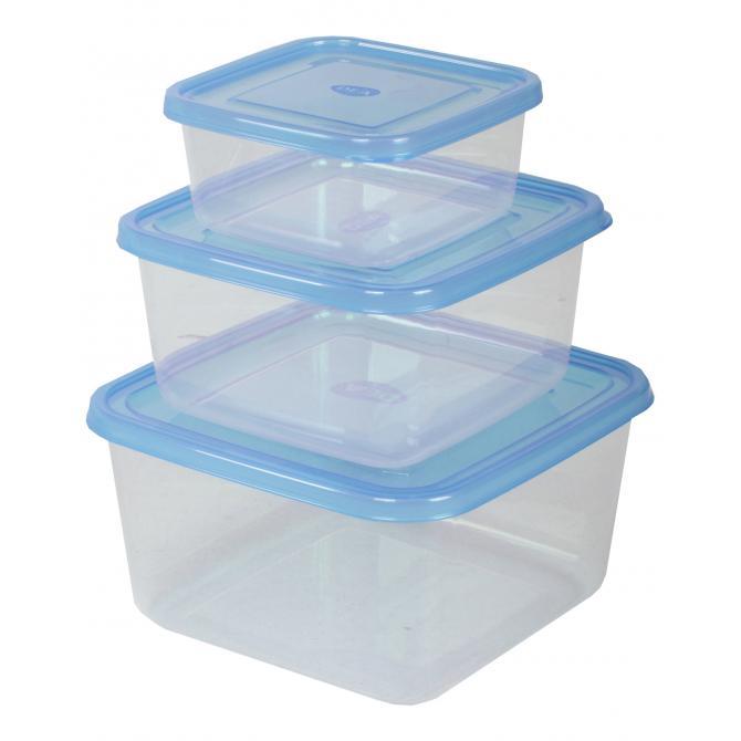 ONDIS24 Frischhaltedosen-Set 0.5-1,5-2,5 Liter blau