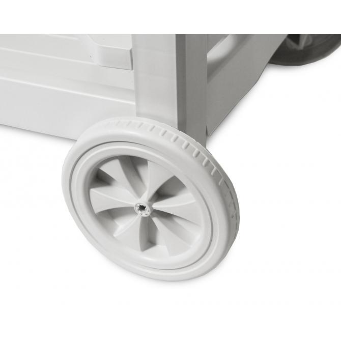 ONDIS24 Beistellwagen Servierwagen  Astro weiß