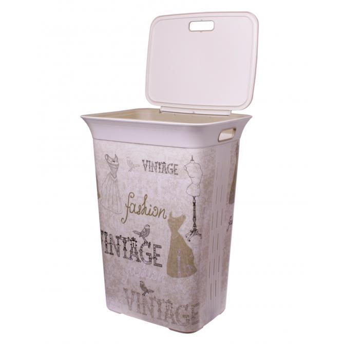 ONDIS24 Wäschekorb Wäschebox Moda Vintage 60 L