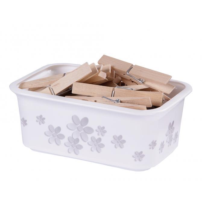 ONDIS24 Aufbewahrungsbox Moda XS Flowers Stapelkiste