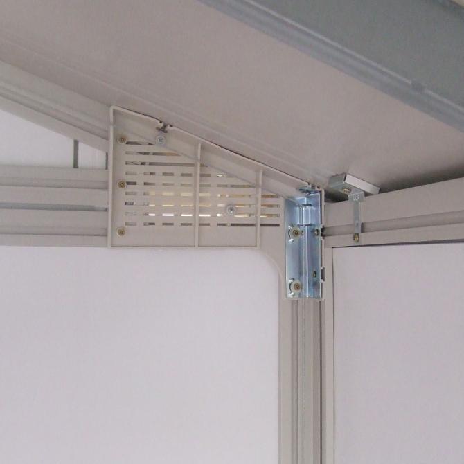 ONDIS24 Gartenhaus Schuppen Kunststoff Metall grau H 11