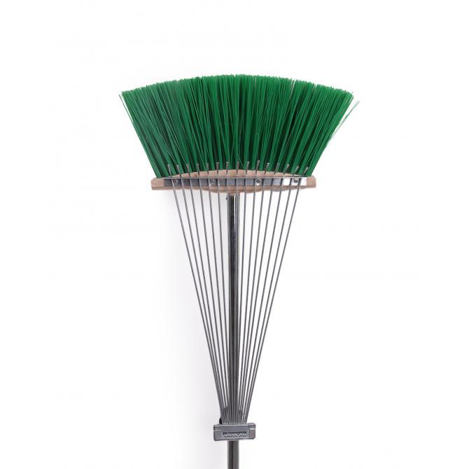 ONDIS24 Laubrechen Kunststoff Harke mit Besen